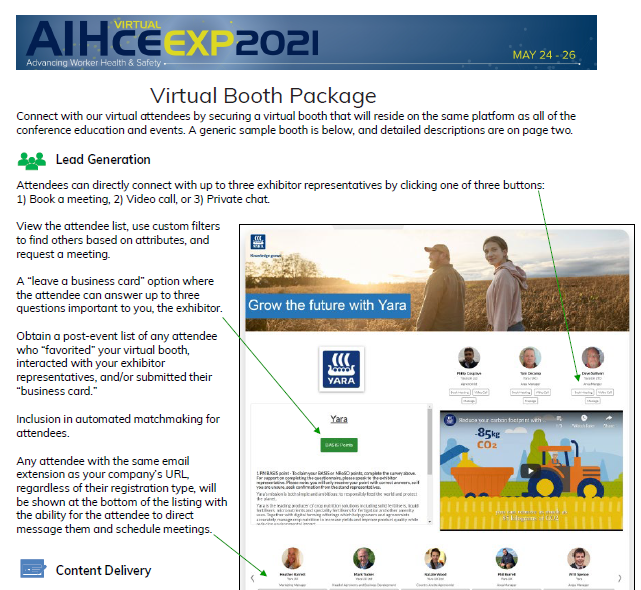 Virtual Booth Details
