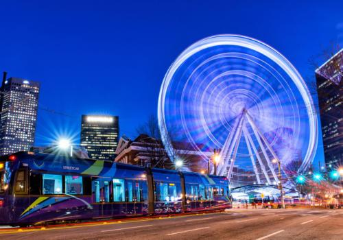 Atlanta Streetcar Sky View Spinning 1