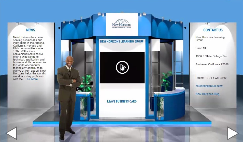 Virtual Booth Sample