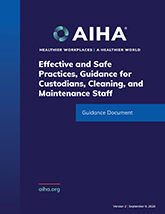 Effective and Safe Practices, Guidance for Custodians, Cleaning, and Maintenance Staff