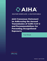Joint Consensus Statement on Addressing the Aerosol Transmission of SARS CoV-2 and Recommendations for Preventing Occupational Exposures