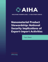 Nanomaterial Product Stewardship - National Security Implications of Export-import Activities