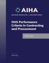 OHS Performance Criteria In Contracting and Procurement