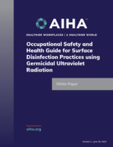Occupational Safety and Health Guide for Surface Disinfection Practices using Germicidal Ultraviolet Radiation