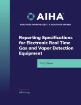 Reporting Specifications for Real Time Detection