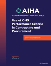 Use of OHS Performance Criteria in Contracting and Procurement