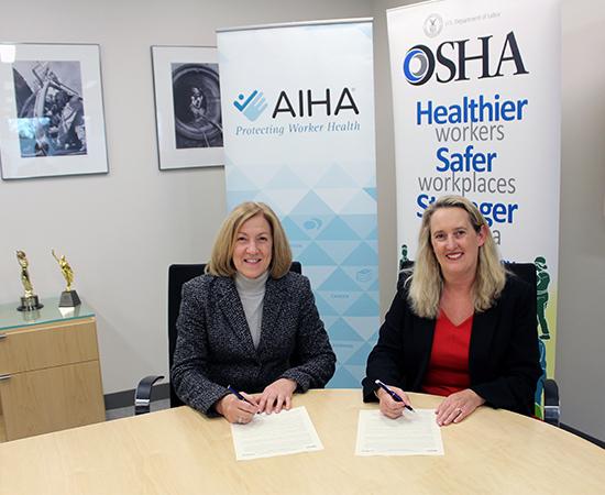 AIHA-OSHA MoU signing