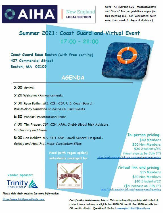 NEAIHA Summer Technical Meeting Flyer